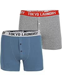 Tokyo Laundry Mens Harecourt (2 Pack) Cotton Rich Boxer Shorts Set