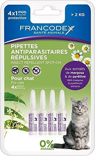 Pipetas antiparasitaires repulsives para gato de Plus de 2kilos (Fra