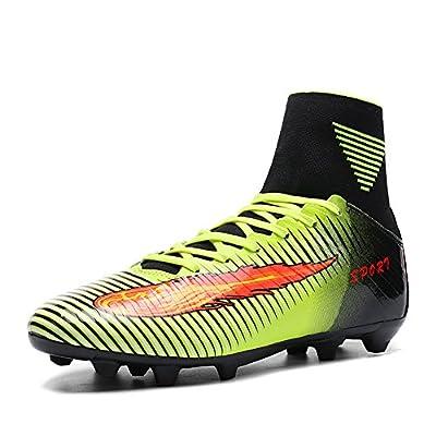 ASHION Niños Botas de fútbol para niños profesionales Zapatos de fútbol al aire libre Zapatillas de deporte Niños Muchachas Zapatillas de fútbol (38, Verde)