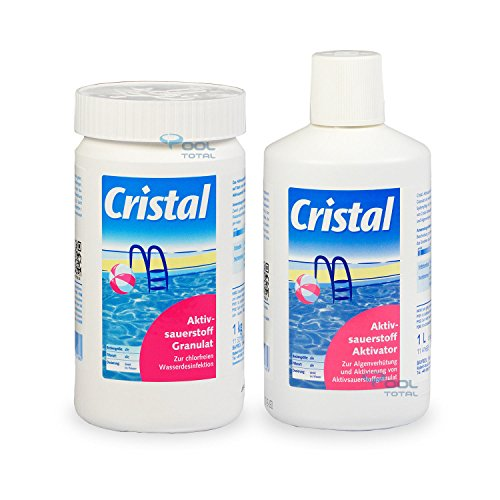 Set Aktivator (Bayrol Spar-Set Cristal 1,0 kg Aktivsauerstoff Granulat + 1,0 l Aktivsauerstoff Aktivator)