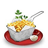 Kitchen Cooking Tools Mini Stainless Steel Fch Fries Net Fry Fryer Basket Small square shape kitchen Useful Accessories