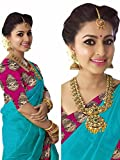 #6: Indian Beauty Women's Chanderi Cotton Print Border With Blouse Saree