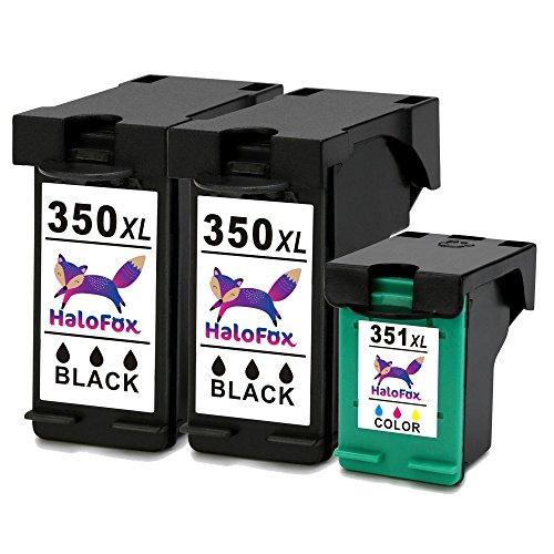 HaloFox 3 Remanufacturado Cartuchos de tinta 350XL 351XL Negro & Tricolor Compatible para HP Photosmart C4480 C4580 C4585 C7280 C4380 C4280 C4340 C4400 C4500 C4585 C4480 C5180 C5280 C6280 C7280 Officejet J6410 J5730 J5780 Impresora