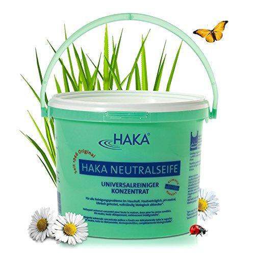 HAKA Neutralseife Pastös I 5 kg Neutralreiniger I Universalreiniger für Haushalt und Auto I PH-neutrales Reinigungsmittel I Biologisch abbaubar (Kleidung Kinder Mod)