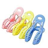 TOPmountain Handtuchclips aus Kunststoff 3 Stück Winddichte Kleidung Hängende Clips Plastik Badetuch Clips Quilt Clips Farbe zufällig
