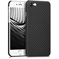 kalibri Hülle für Apple iPhone 7/8 - Handy Schutzhülle - Backcover Aramid Cover Schwarz matt