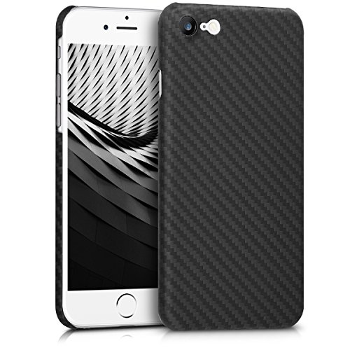 kalibri-Hlle-fr-Apple-iPhone-7-8-Handy-Schutzhlle-Backcover-Aramid-Cover-Schwarz-matt