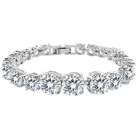 EVER FAITH® CZ Kristall Träne Form Art Deco elegant Braut