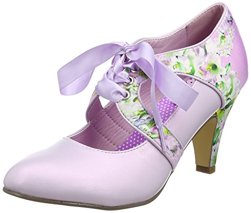Joe Browns Damen Garden Party Tie Shoes Mary Jane Halbschuhe Purple (a-lilac)