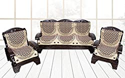 Yellow Weaves 6 Piece Maroon Sofa & Chair Cover Set