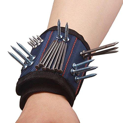 Oyedens Magnetische Armband Pocket Tool GüRteltasche Tasche Schrauben Halten Arbeiten Rolltasche / Werkzeugtasche