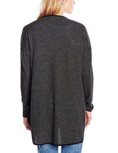 ONLY Damen Strickjacke Onldiamond Ls Long Cardigan Noos Grau (Dark Grey Melange Detail:DGM/BLACK)