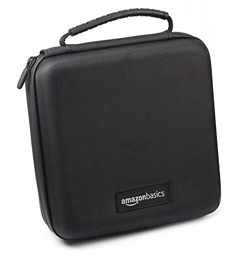 AmazonBasics -  Funda de transporte para Super NES Classic y accesorios,  21, 6 x 8, 9 x 21, 6 cm,  negro