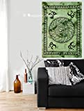 Indian Om Hippie Mandala Psychedelic Small Wall Hanging Tapestry Throw Ethnic Religious Poster Cotton Handmade Yoga Mat By Bhagyoday Fashions