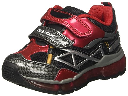 Geox Jungen J Android Boy B Sneaker, Rot (Red/Black), 28 EU (Turnschuhe Boys Red)