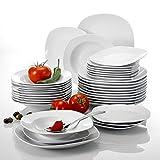 Malacasa, serie Elisa, 36 pezzi Set da tavola in porcellana, piatti da tavola completi 12 piatti da dessert, 12 piatti a base di zuppa e 12 piatti piano per 12 persone
