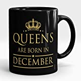 #6: Londonius Ceramic Coffee Mugs - QUEENS Are Born In DECEMBER   Birthday Gifts for Girls/Ladies