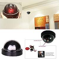 Jiayuane Dummy Fake Security CCTV Dome Camera Flashing Red LED Light AntiTheft for Home Security