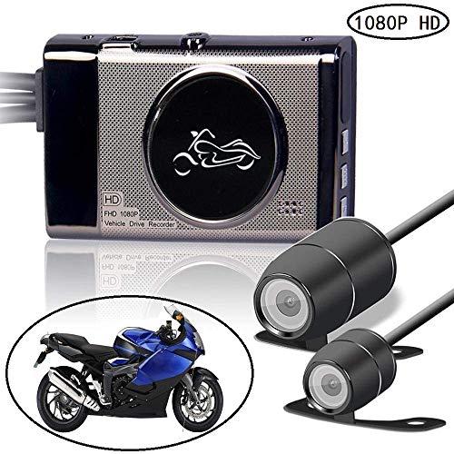 KOBWA Full HD 1080P Motorrad Video Recorder mit 170 Weitwinkelobjektiv, 3 Zoll LCD-Bildschirm, WDR, Bewegungserkennung, Parkmonitor, Loop-Aufnahme, Nachtsicht und G-Sensor