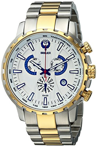 Brillier Caballero 16-08 Endurer Gold cron—grafo Swiss Quartz Reloj