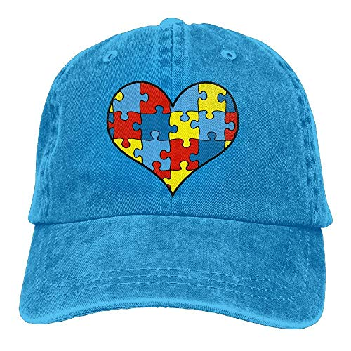 ghkfgkfgk Baseball Cap Autism Puzzle Heart Men Snapback Casquettes Polo Style Low Profile Royal Blue Scrub Cap