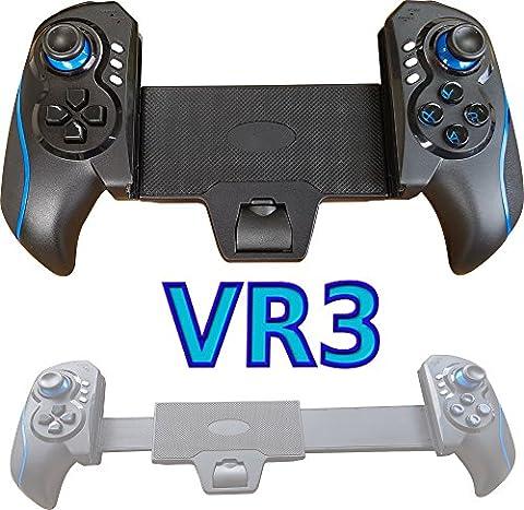 VR3 BLAU Bluetooth Spiel Controller GamePad f. Smartphone Tablet PC zB für: Samsung Galaxy S8 PLUS S7 S6 EDGE Note 6 5 4 Tab S2 iPad mini 4 iPhone 7 6S Parrot Bebop VR Google Windows iOS 9-10 Android