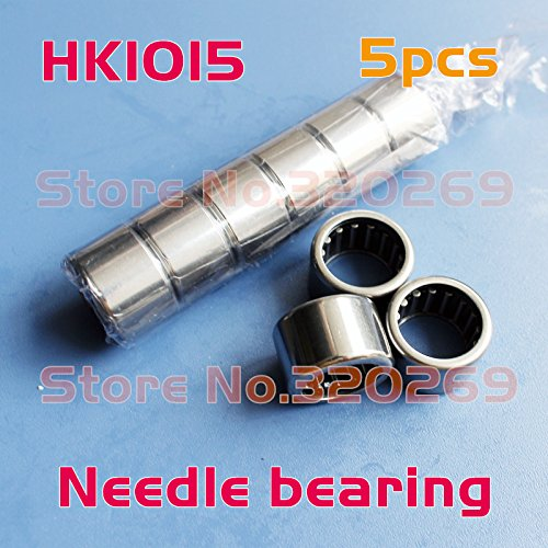 Generic 5x Open end drawn cup needle bearing 10x14x15mm shaft Tasse Nadellager roller HK1015 TLA1015Z Shell Type bearing