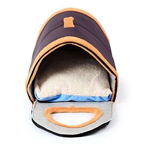Komia Kuschelhöhle Softplüsch-Bezug Hundehöhle Braun Hundehaus für hunde indoor kuschelhaus - 2
