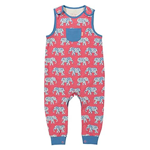 Elephant dungarees in organic cotton by Kite (18-24 months)