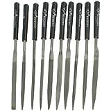 Sourcingmap a12110600ux0402 - 10 piezas de 4 mm x 160 mm herramientas de mano conjunto limas de aguja mango de plástico negro