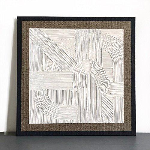 Weisse Landschaft 2- Acryl Gemälde auf Leinwand- Struktur mit Spachtelmasse- Abstrakte Malerei- Unikat.