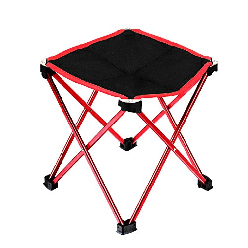 Portable Folding Stool Chair Camping Chairs Travel Fishing Picnic Outdoors, Red