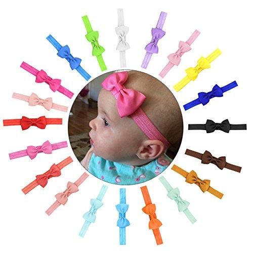 Pretty See Elastische Stirnband Dekorative Haarband Schöne Headwrap mit niedlichen Bowknot Design, geeignet für Baby und Kinder, 20er Set (Kostüm Design Online Kostenlos)
