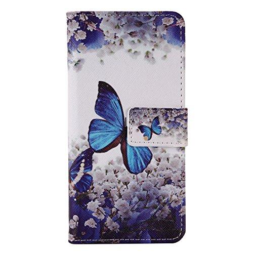 Voguecase® für Apple iPhone SE 5 5S 5G hülle,(Rose/Turm 01) Kunstleder Tasche PU Schutzhülle Tasche Leder Brieftasche Hülle Case Cover + Gratis Universal Eingabestift Kleine Orchidee 02