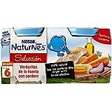 Nestlé Naturnes Verduras con Cordero - Paquete de 2 x 200 gr - Total: 400 gr