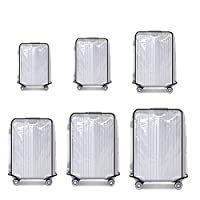 """CALISTOUK Suitcase Cover Protectors Luggage Trolley Case Protector Clear PVC Waterproof Dust proof Fit for 20"""" 22"""" 24"""" 26""""28"""" 30"""""""