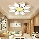 Style home 54W LED Deckenlampe Kronleuchter Volldimmbar mit Fernbedienung Kristallampe 63cm groß Wohnzimmer Schlafzimmer Kinderzimmer 'Gänseblümchen' PS6926-R63