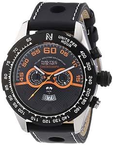 Nautec No Limit Herren-Armbanduhr XL Monza Chronograph Quarz Leder MZ QZ/LTSTBK