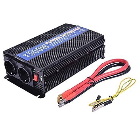 Spannungswandler Stromwandler Inverter Wechselrichter Werkstatt 1500 3000W 12V auf 220V