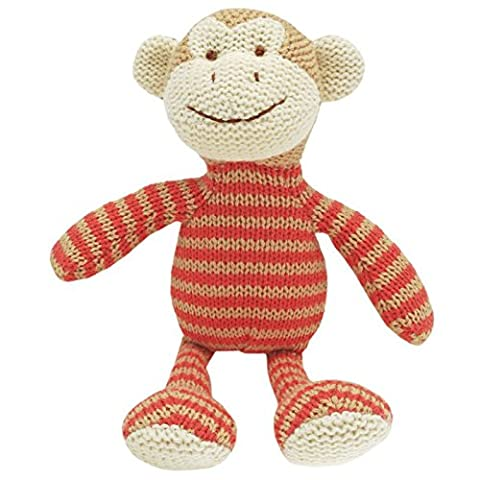 Walton Baby - Mickey Monkey Rattle - Tricoté bébé Soft Toy Rattle 19cm