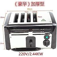 Hydz Tostadora Horno tostadora Comercial 4 Piezas 6 Piezas tostadora de Acero Inoxidable máquina de Desayuno