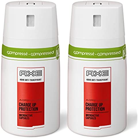 Axe desodorante en aerosol anti Hombres Perspirant adrenalina 100ml - Conjunto de 2