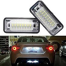 GOFORJUMP 2 PCS/Set GT 86 LED Matrícula Lámpara de luz Placa de matrícula Trasera