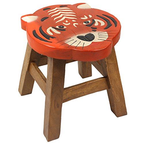 Roter Stuhl Galerie (Kinderhocker Tiger Hocker Rundhocker Holzhocker Sitz Kinder Stuhl ca. 25cm Durchmesser & Höhe Braun Holzfarben Natur Rot Limboholz Holz)