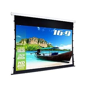 ESmart tATENSO écran hIGH cONTRAST tension gris/largeur :  269 cm surface d'affichage 221 x 125 cm (100, modèle avec télécommande/2015