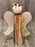 Holzengel Engel (Lilli) Weihnachtsengel aus Holzscheit Engel (Berni)
