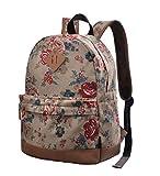 Nvfshreu Rücksack Teenager Casual Vintage Backpack Erwachsene Daypacks Stylisch Damen Schulrucksack...