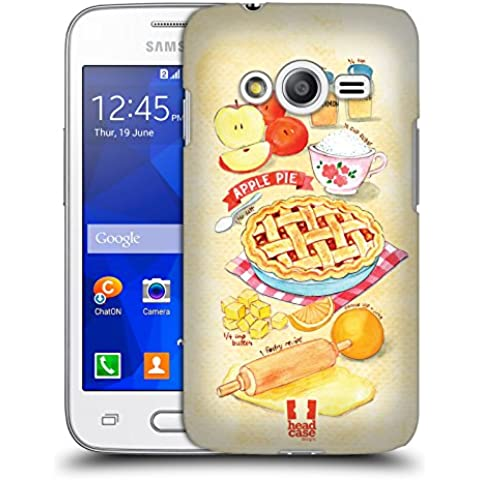 Head Case Designs Torta Di Mele Ricette Illustrate Cover Retro Rigida per Samsung Galaxy Ace 4 / Ace NXT