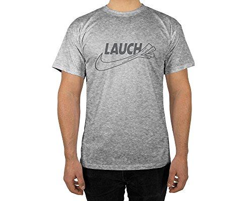 Männer T-Shirt mit Aufdruck in Grau Gr.
