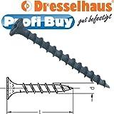 Profi-Buy JD-Schnellbauschrauben | SBS Grobgewinde | 3,9MMx55MM | VE: 500 STCK | Antrieb: PH2